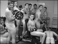 Exeter Chiefs pose for their calendar