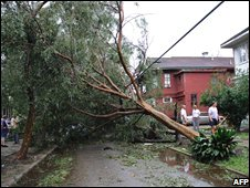 Hurricane Gustav storm damage
