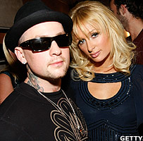 Musician Benji Madden and Paris Hilton