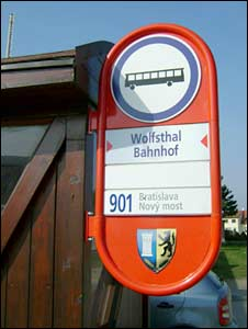 Bus stop in Wolfsthal
