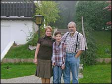Prof Podhoransky and his family in Wolfsthal