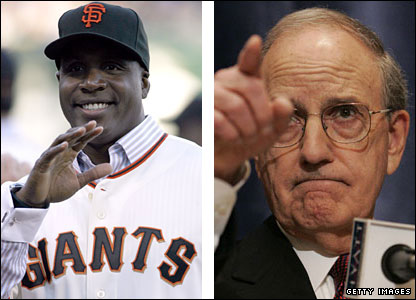 Barry Bonds and former Senator George Mitchell