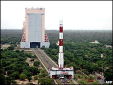 Chandrayaan 1 on launcher