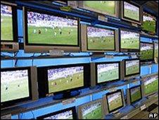 TVs on display