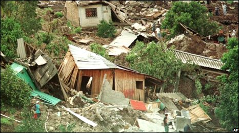 Tegucigalpa buildings destroyed 10 years ago