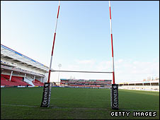 A general view of Kingsholm