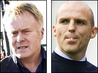 Dave McKinnon and sacked Dundee manager Alex Rae
