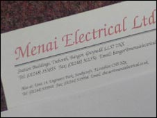 Menai Electrical letter head