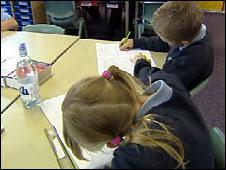 children sitting test