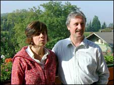 Wolfsthal Mayor Gerhard Schodinger and his wife