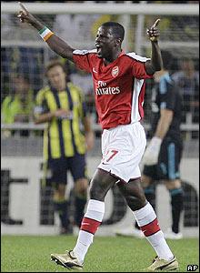 Abou Diaby celebrates