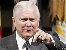 Robert Gates. File pic.