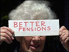 Protesting pensioner