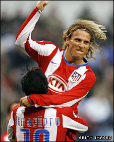 Diego Forlan and Sergio Aguero