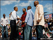 Senator Barack Obama and Tampa Bay Rays