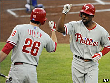 Members of the Philadephia Phillies