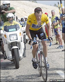 Lance Armstrong during the 2002 Tour de France