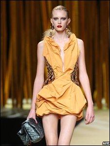 Louis Vuitton catwalk model