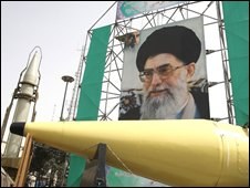 Iranian missiles on display in Tehran, September 2008