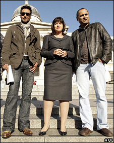 Barbara Follett, Ajay Devgan and Vipul Shah