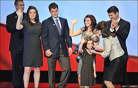 Sarah Palin's family at the Republican National Convention in St Paul, Minnesota