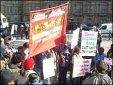 Chagossian protesters