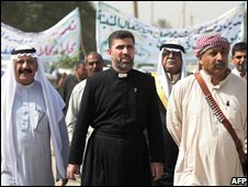 Rally in Bahdad for Christians in Mosul