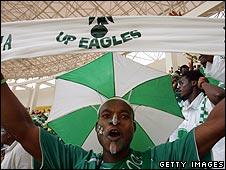 A Nigerian fan