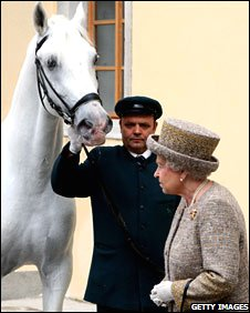 The Queen and her new horse