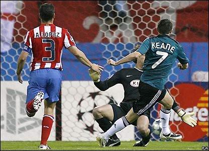 Keane puts Liverpool 1-0 up