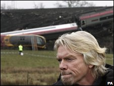 Sir Richard Branson at Grayrigg