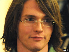 Raffaele Sollecito after a court hearing on 27 September 2008