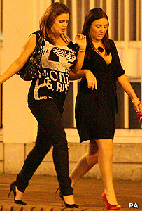 Kerry Katona and friend