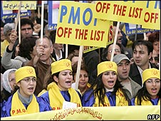 People's Mujahideen Organisation of Iran (PMOI) demonstration in Brussels, Nov 05