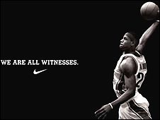 LeBron James advertisement for Nike sportswear