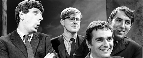 Jonathan Miller, Alan Bennett, Dudley Moore and Peter Cook in 1964