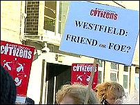 Westfield Centre protestors