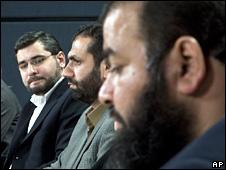 Abdullah Almalki (l), Muayyed Nureddin (c) and Ahmad El Maati (r)