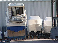 Boats under wraps