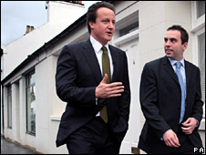 David Cameron and Maurice Golden