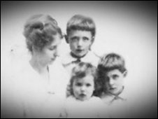Mary Allouis and her three children