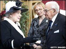 The Queen meets Sir Nicholas Winton