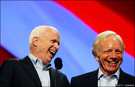 John McCain and Joe Lieberman at the Republican National Convention