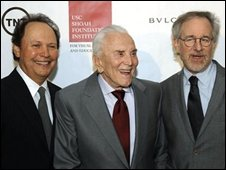 Bily Crystal, Kirk Douglas and Steven Spielberg