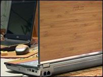 Asus EcoBook in bamboo