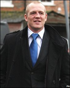 Mike Tindall arrives in court at an earlier hearing