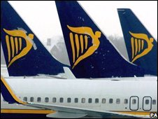 Ryanair tailfins