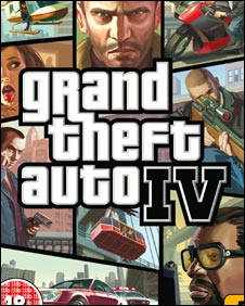 Box art for GTA IV, Rock Star