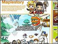 "Página de ""Maplestory"""