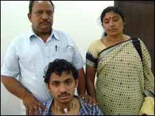 Arun Kumar with parents PP Raju and Lakshmi